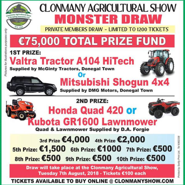 Clonmany Show Monster Draw Tickets
